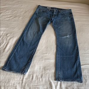 AG Distressed Tomboy Boyfriend Fit Jeans 31R